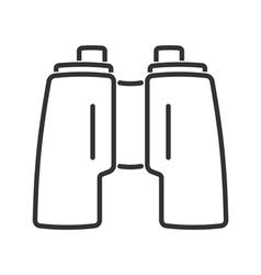 Binoculars line icon vector image