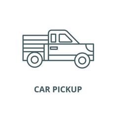 car pickup line icon car pickup outline vector image