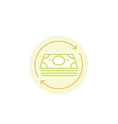 Cash flow icon vector