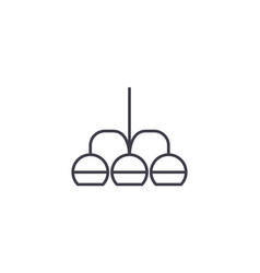 chandelier line icon sign on vector image