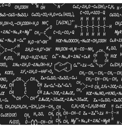 Chemistry seamless pattern on blackboard vector image