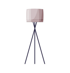 classic decorative floor lamp apartments and vector image