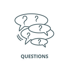 collection questions line icon vector image