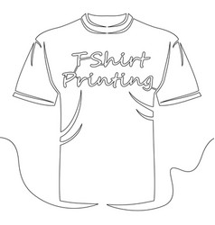 continuous line t shirt printing concept vector image