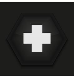 creative icon on black background Eps10 vector image