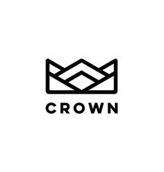 crown logo design concept vector image