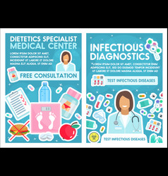 Dietetics and infectious disease clinic vector