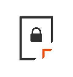 Document lock icon unlock file lock file secret vector