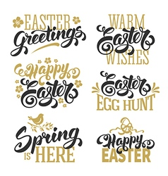 Easter calligraphy set vector image
