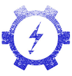 Electric energy gear wheel textured icon vector