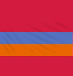 Flag armenia - alternative swaying in wind vector