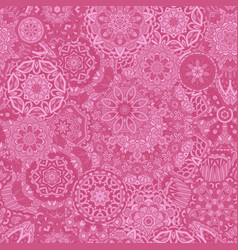 flower ethnic seamless design lace pattern mandala vector image