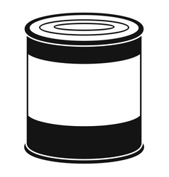 food tin can icon simple style vector image