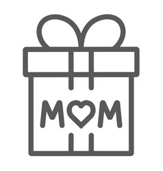 gift for mom line icon present and holiday mom vector image
