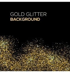 Gold confetti glitter on black background vector
