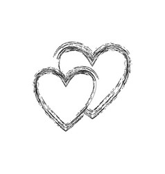 heart black two sign vector image