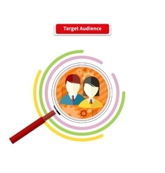 Icon Flat Style Concept Target Audience vector image