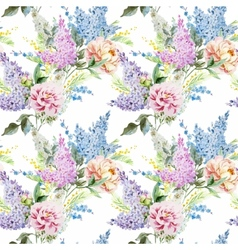 Lilac pattern vector
