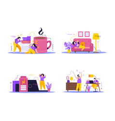 Low energy people concept icons set vector