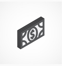 money isometric icon 3d vector image