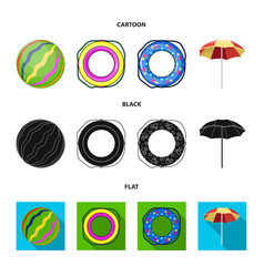 Multicolored swimming circle cartoonblackflat vector