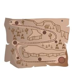 old treasure map indian railway vector image