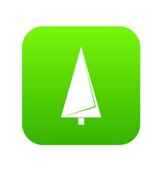 origami fir tree icon green vector image