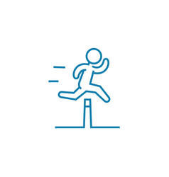 Overcoming obstacles linear icon concept vector