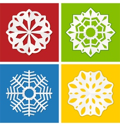 paper snowflake set vector image