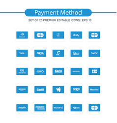 Payment method icons set vector