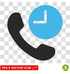 Phone Time Eps Icon vector
