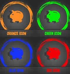 Piggy bank - saving money icon Fashionable modern vector