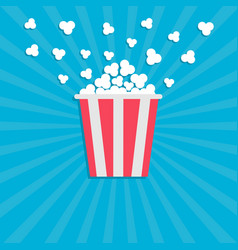 popcorn popping cinema movie icon in flat design vector image