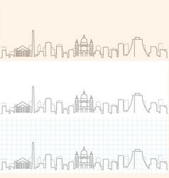 Porto alegre hand drawn skyline vector