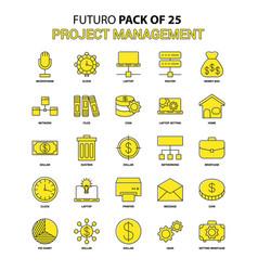 Project management icon set yellow futuro latest vector