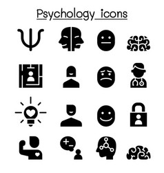 psychology icon set graphic design vector image