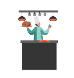 restaurant staff cartoon character vector image