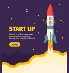 rocket new start up take off vector image