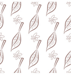 Seamless of leaves flower template concept vector