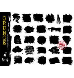 Set grunge style elements texture background vector
