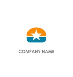 Star emblem company logo vector