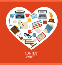 storytelling content writer profession book and vector image