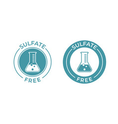 Sulfate free icon chemical test tube seal sulfate vector