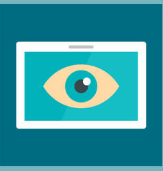 Tablet vision icon flat style vector