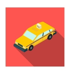 Taxi car icon in flat style isolated on white vector
