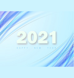 template for new year design 2021 lettering vector image