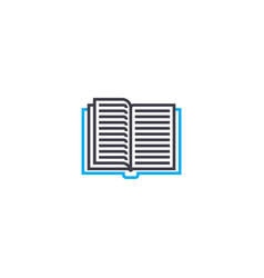 thumbing through a book thin line stroke vector image