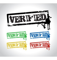 Verified sign stamp vector
