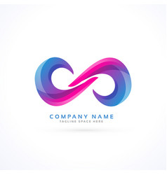 vibrant creative infinity logo vector image