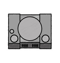 Videogame console icon vector